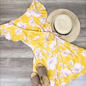Free people yellow floral dress